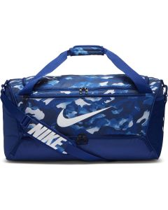 Nike Brasilia Camo Medium Duffel Bag - Deep Royal Blue