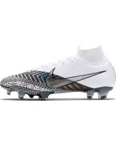 Nike Men's Mercurial Superfly 7 Elite MDS Firm Ground cleats - White Black