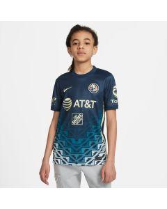 Nike Club America 2021/22 Stadium Youth Away Jersey - Blue