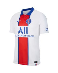 Nike PSG white blue red jersey