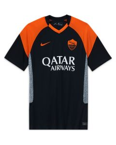 Nike A.S. Roma Mens 3rd Mens Jersey 2020/21- Black -Orange
