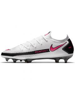 Nike Mens Phantom GT Elite Firm Ground Soccer Cleats White black pink