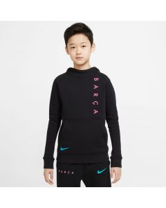 Nike FC Barcelona Fleece Pullover Hoodie Youth -Black