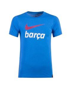 Barcelona Youth Crest T-Shirt - Blue