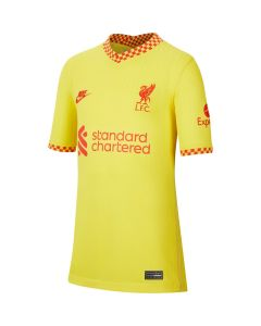 Nike Liverpool 3rd Youth Jersey 2021 - Yellow