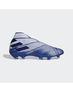 adidas Nemeziz 19+ Firm Ground Soccer Cleats Mens - White/Royal - Mutator Pack