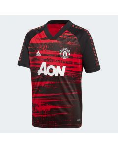 adidas Manchester United Youth Prematch Jersey 20/21-Black