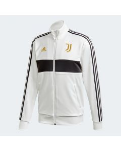 adidas Mens Juventus 3 Stripe Track Jacket 20/21 White Black