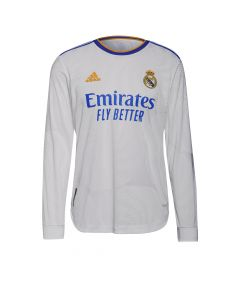 Adidas Real Madrid Aut Home LS Jersey - White