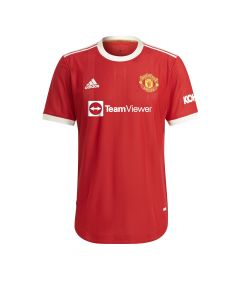 Adidas Man United Auth Home Jersey Red