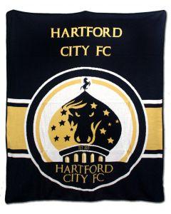 Hartford City FC Blanket - Navy/Gold