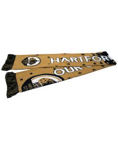 Hartford City FC Our City Our Team Scarf-Navy/Gold