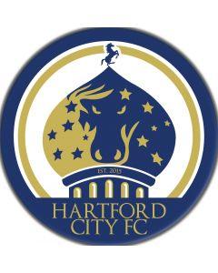Hartford City FC Magnet - full color 5 inch - Navy / Gold / White