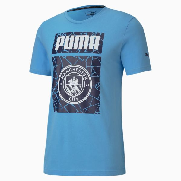 Puma Manchester City Football Mens Graphic Tee -Blue