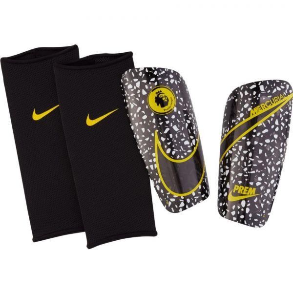 Nike EPL Premier League Mercurial Lite Soccer Shinguard-Black yellow