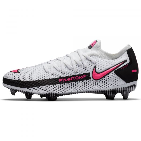 Nike Junior Phantom GT Pro Firm Ground Cleats- White Pink