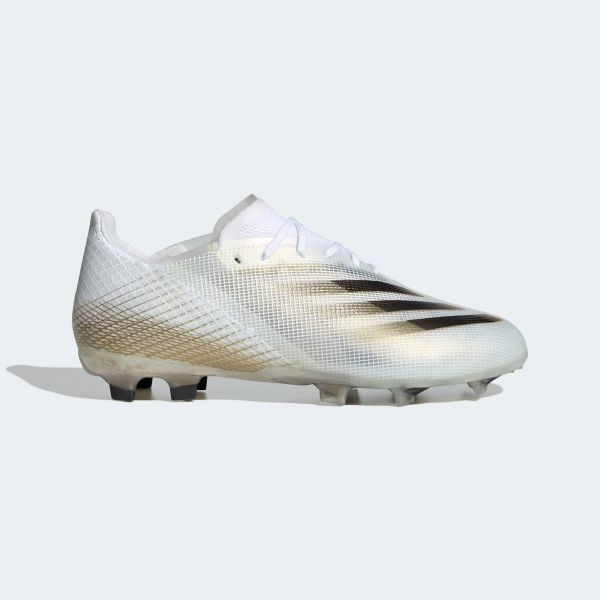 adidas X Ghosted.1 Firm Ground Cleats Junior -White/Gold