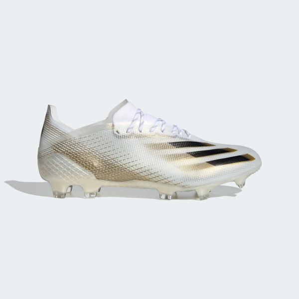 adidas X Ghosted.1 Firm Ground Soccer Cleats- White